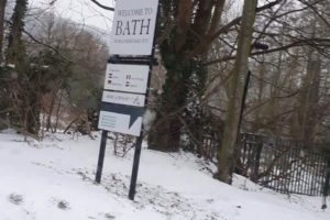 Snow in Bath