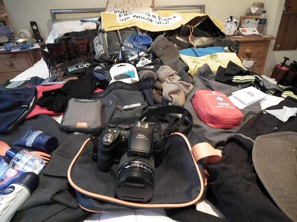 Equipment for Base Camp trek