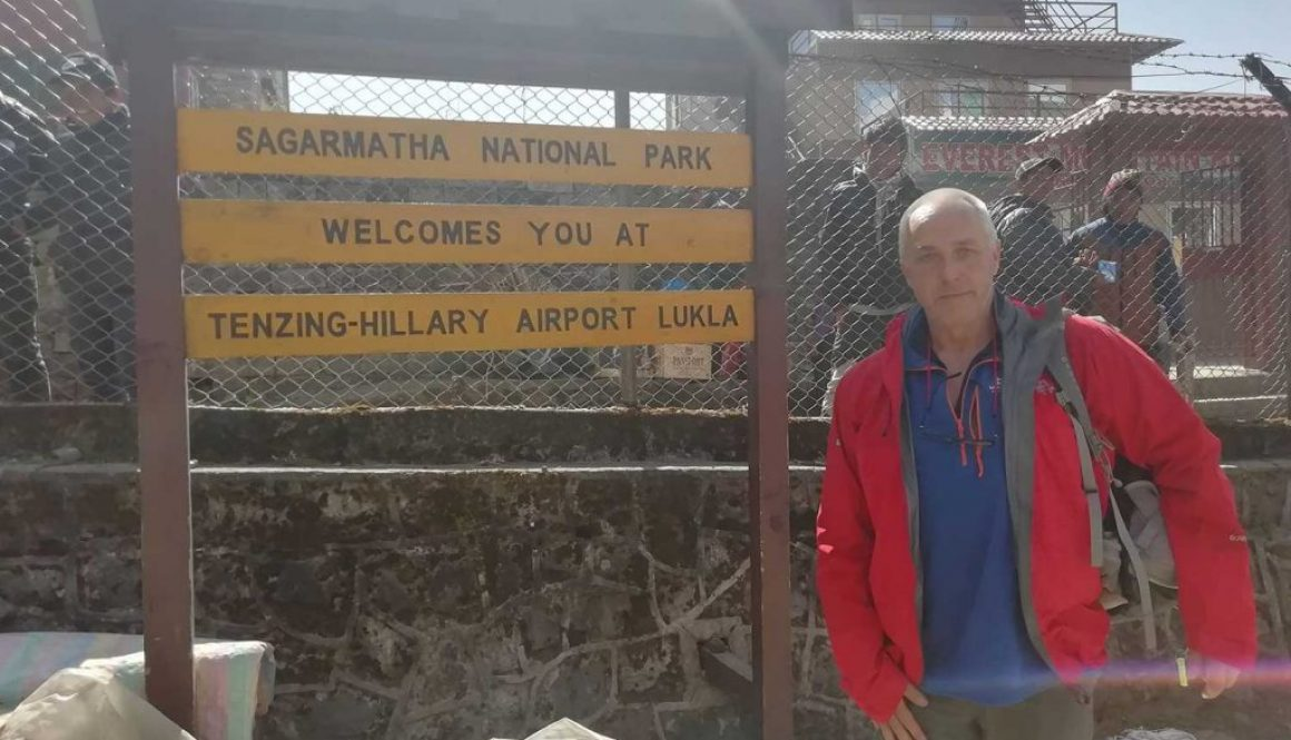 Kevin Miller Arrived at Lukla Airport