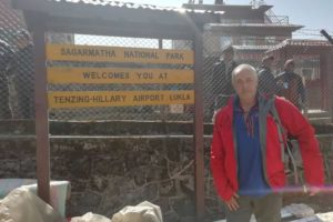Kevin Miller Arrived at Lukla Airport