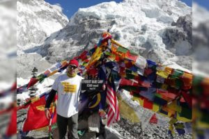 Kevin Miller reachs Everest Base Camp