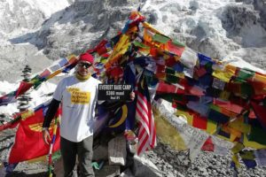 Kevin Miller Reaches Everest Base Camp