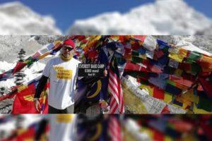 Airived at Everest Base Camp