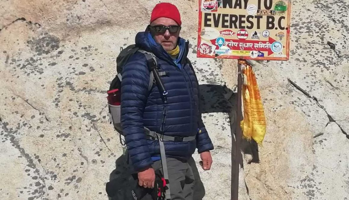Kevin Miller on way to Everest Base Camp